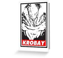 Krobey Greeting Card
