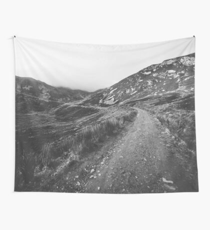Road trip black and white Wall Tapestry