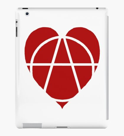 Red Anarchist Heart iPad Case/Skin