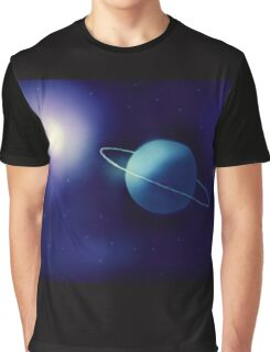 Ringed Blue Planet Graphic T-Shirt