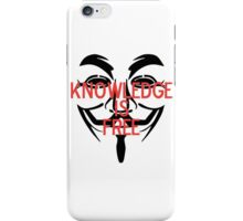 Knowledge Is Free iPhone Case/Skin