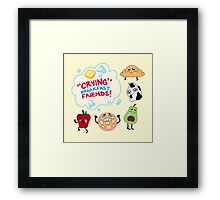 """Crying"" Breakfast Friends! // Steven Universe Framed Print"