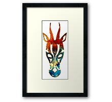 Antelope, Africa, Space, Cosmos, Galaxy, Universe Framed Print