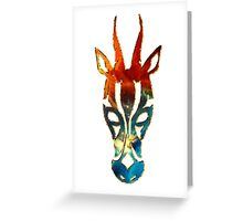 Antelope, Africa, Space, Cosmos, Galaxy, Universe Greeting Card
