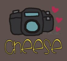 """Camera """"cheese"""" Photography love Kids Clothes"""