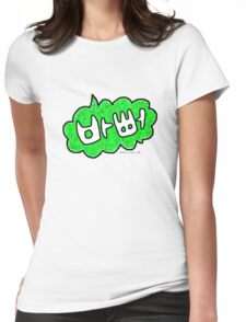 Korean I'm busy! 바뻐 Bappeo Korean Hangul talk bubble Womens Fitted T-Shirt