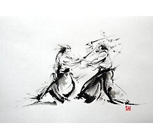 Samurai fight large poster, martial arts art work Photographic Print