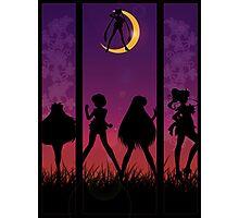 Sailor Senshi silhouette  Photographic Print