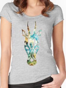 Antelope, Africa, Space, Cosmos, Galaxy, Universe Women's Fitted Scoop T-Shirt