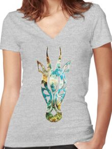 Antelope, Africa, Space, Cosmos, Galaxy, Universe Women's Fitted V-Neck T-Shirt