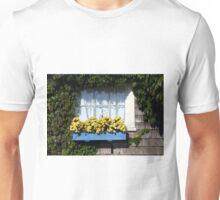 Blue Flower Box Unisex T-Shirt