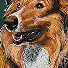 """""""My Best Friend"""" Portrait of A Collie by Susan Bergstrom"""