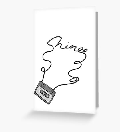 SHINee cassette tape writing Greeting Card