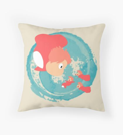 Ponyo Throw Pillow