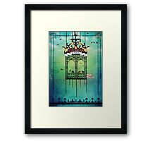 travelling with elephants Framed Print
