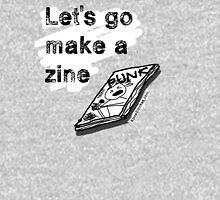 Let's go make a (Punk) zine Womens Fitted T-Shirt