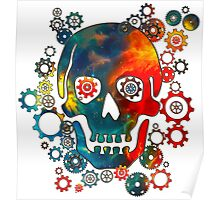 Skull, Space Pirate, Cosmos, Galaxy, Universe Poster