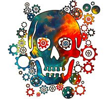 Skull, Space Pirate, Cosmos, Galaxy, Universe Photographic Print