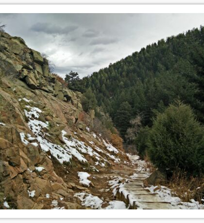 The Frozen Steps of Deer Creek Canyon in Denver, Colorado Sticker