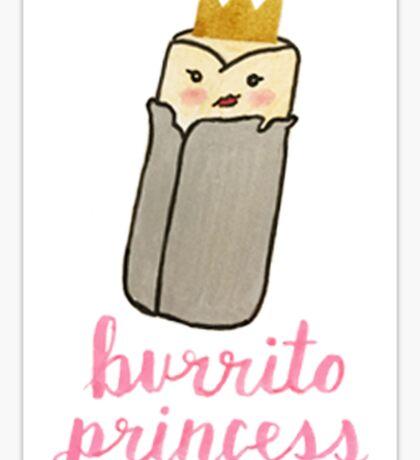 Burrito Princess Sticker