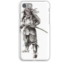 Samurai old armor artwork, japanese ideas painting iPhone Case/Skin