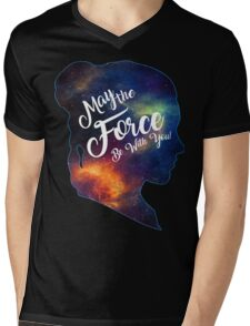 May the Force be With You - Carrie Fisher -Princess Leia Tribute Shirt Mens V-Neck T-Shirt