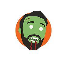 'Ricky Gervais' Halloween Zombie Photographic Print