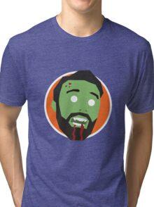 'Ricky Gervais' Halloween Zombie Tri-blend T-Shirt