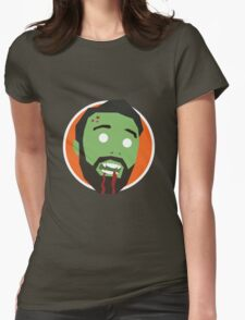'Ricky Gervais' Halloween Zombie Womens Fitted T-Shirt