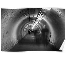 ghosts in a tunnel Poster