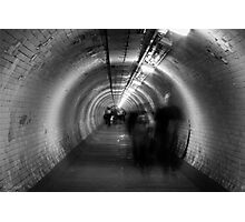 ghosts in a tunnel Photographic Print