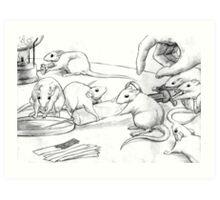 Rattus Lab Art Print