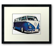 VW Bus Cool Blue Framed Print