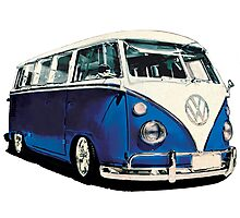 VW Bus Cool Blue Photographic Print