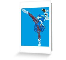 Chun-Li Typography Greeting Card