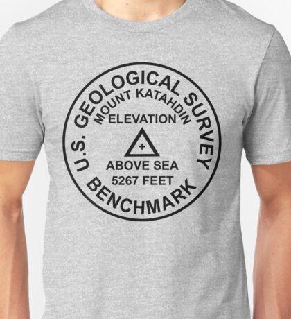 Mount Katahdin, Maine USGS Style Benchmark Unisex T-Shirt
