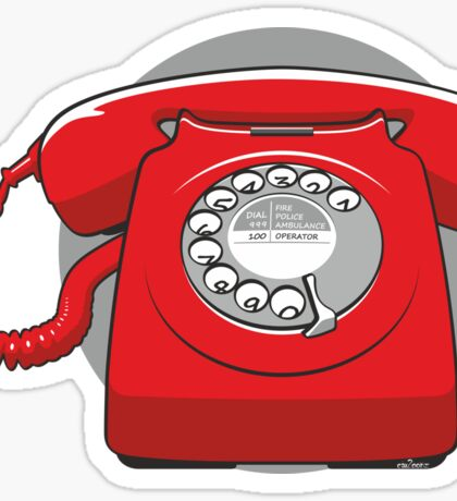 Old fashioned telephone Sticker