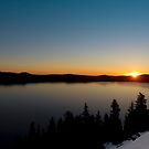 Sunrise over Crater Lake. by Alex Preiss