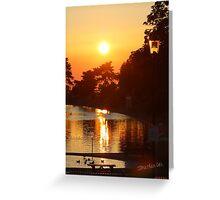 Ryde Sunset Greeting Card