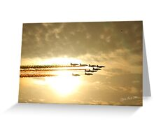Red Arrows Sunset Greeting Card