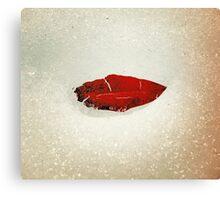Icy Leaf Lips, version 2 Canvas Print