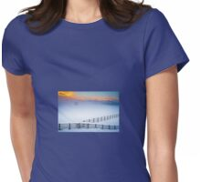 Welsh Winter Sunrise Womens Fitted T-Shirt