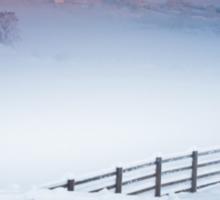 Welsh Winter Sunrise Sticker