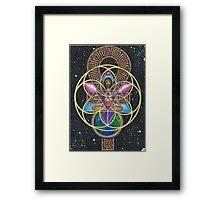 Merkaba Chakra Healing and Immortality Activation Framed Print