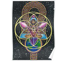 Merkaba Chakra Healing and Immortality Activation Poster