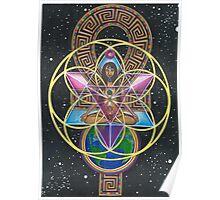 Merkaba Chakra Healing and Immortality Activation Poster