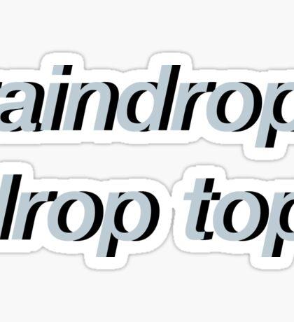 Raindrop, Drop Top Sticker