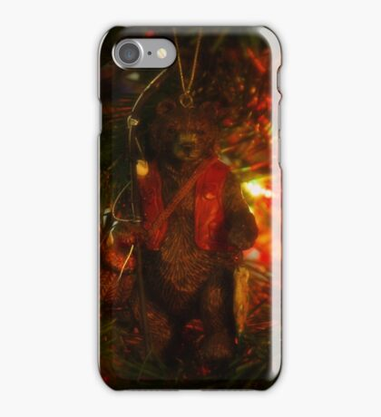 Fishing Bear Ornament iPhone Case/Skin