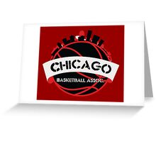 Chicago Basketball Association Greeting Card
