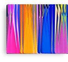 Coloured Glass Bottles Canvas Print